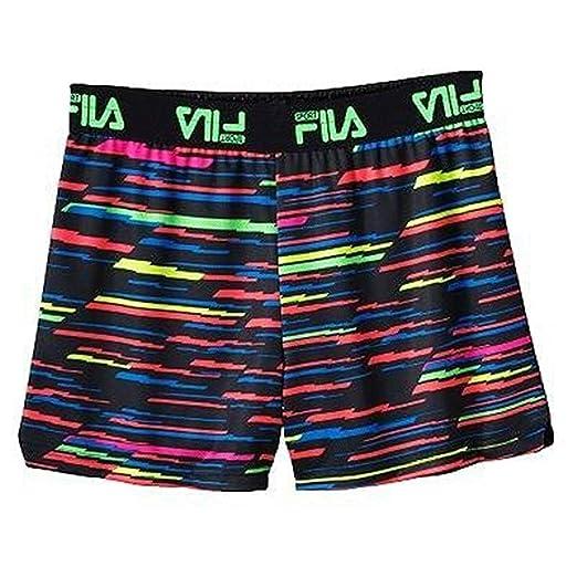 48574dbd0b29 Fila SPORT Big Girls  Lightning Strike Reversible Mesh Shorts (Small ...
