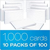 "Oxford Ruled Index Cards, 4"" x 6"" yMcOXv, White, 20 Packs of 100 (41)"