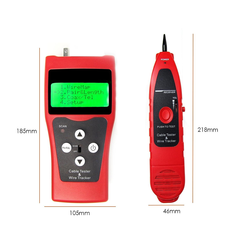 Digital Network LAN Telefon Koaxial BNC-USB-Kabel-Verfolger ...