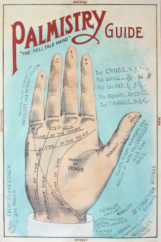 A Picture of Good Health - Vintage Palmistry Chart Lithograph (24x36 SIGNED Print Master Giclee Print w/ Certificate of Authenticity - Wall Decor Travel Poster)