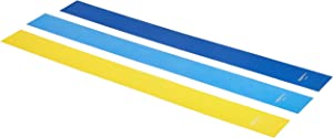 AmazonBasics Latex Resistance Band - 1500mm, 3-Piece Set