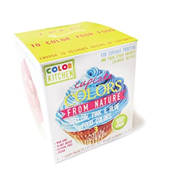 Amazon.com: ColorKitchen Cupcake Coloring Set (PINK, YELLOW, and ...