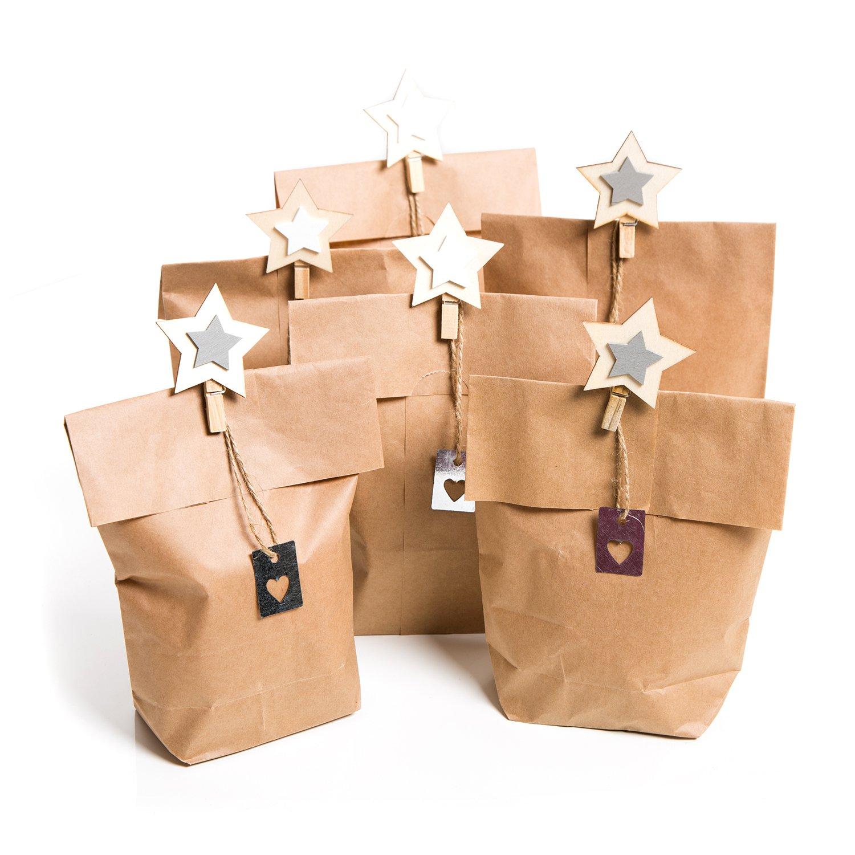 c7a9b04b5 on sale Navidad del paquete de Juego 6 unidades pequeñas marrón weihnac  htstüten bolsas de papel
