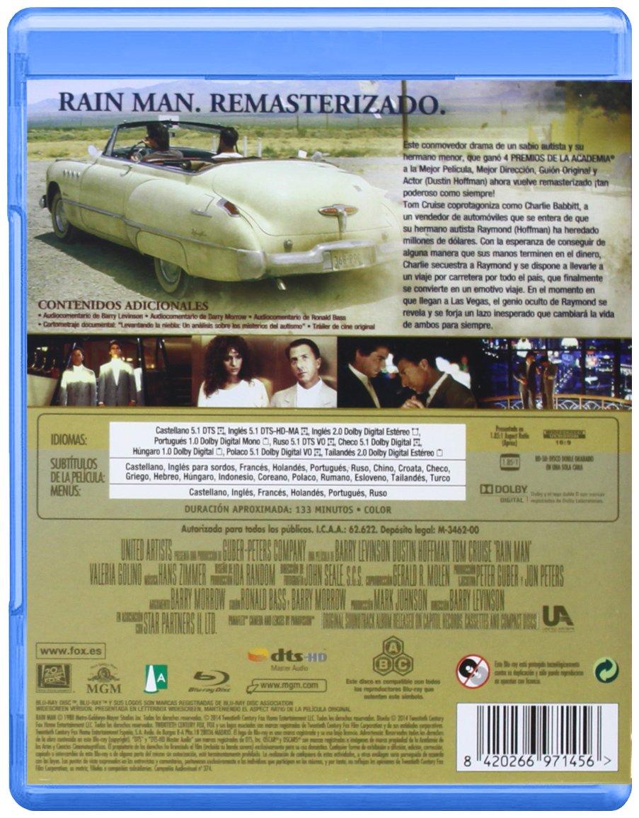 Rain Man (Remasterizado) - Blu-Ray [Blu-ray]: Amazon.es ...