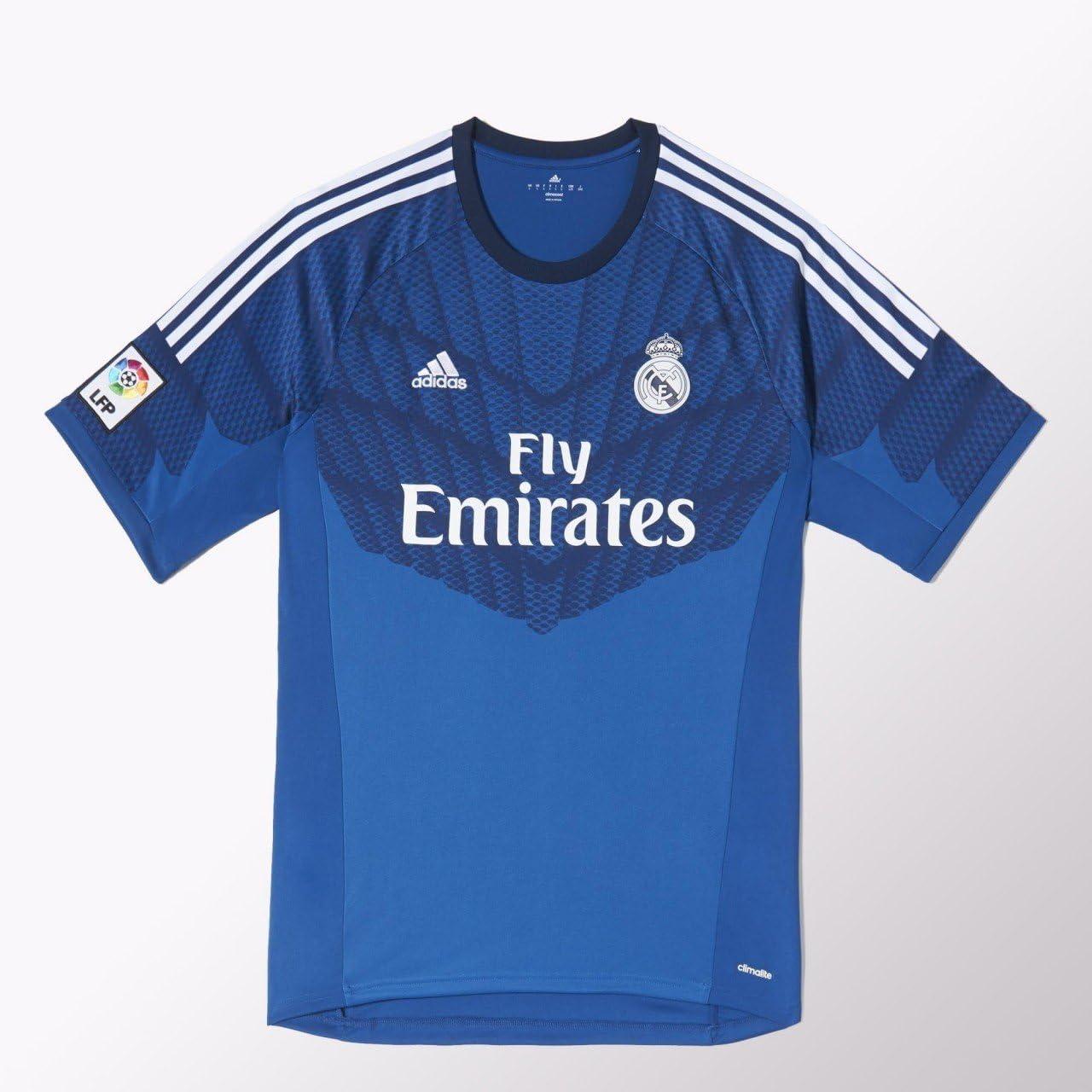 adidas Camiseta Portero Real Madrid Lone blue-Dark indigo Talla L: Amazon.es: Deportes y aire libre