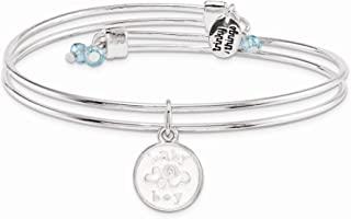 Silver-Tone Trinky Things Baby Boy A New Baby Bracelet/Card