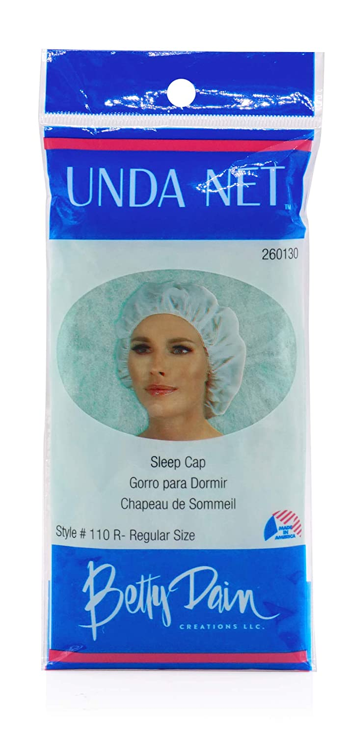 Betty Dain Unda Net Sleep Cap/Hairnet, Non-Woven Breathable Fabric, Protects Hair While You Sleep, Ideal for Industrial and Food Service Environments, Standard, 24 Per Pack