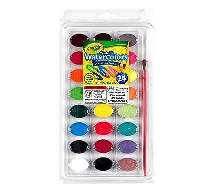 Crayola 24 Ct Washable Watercolors: Crayola: Amazon.com.mx: Juegos y ...