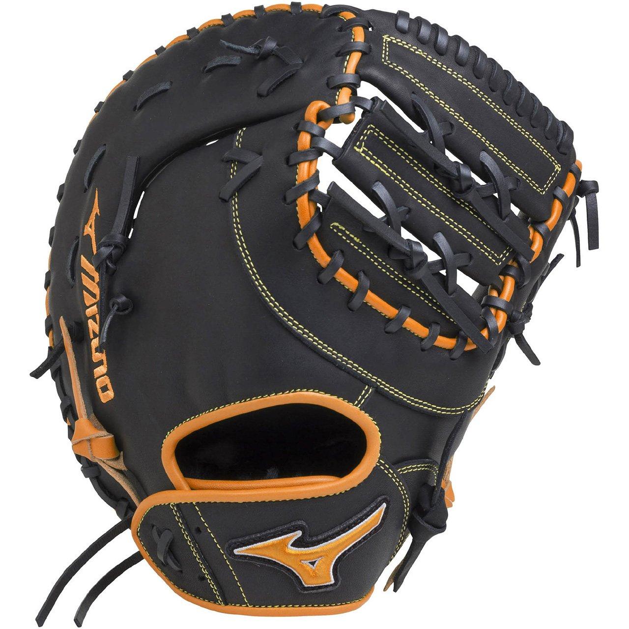 ミズノ(MIZUNO) ソフトボール用 エレメントフュージョンUMiX 捕手一塁手兼用(コンパクトタイプ) 1AJCS18420 B079TMWTDD 左投用|ブラック×クリアオレンジ(0951) ブラック×クリアオレンジ(0951) 左投用