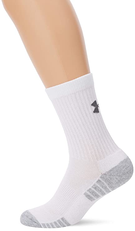 a33423f98 Image Unavailable. Image not available for. Color: Under Armour Heatgear Crew  Socks 3 Pack - White XL