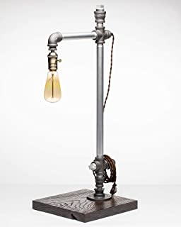 product image for Pipe Industrial Table-Top Desk Lamp Made in America (Crafton Lamp)
