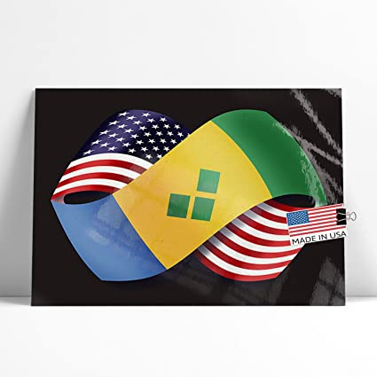 Amazon com: NEONBLOND Large Poster Friendship Flags USA St
