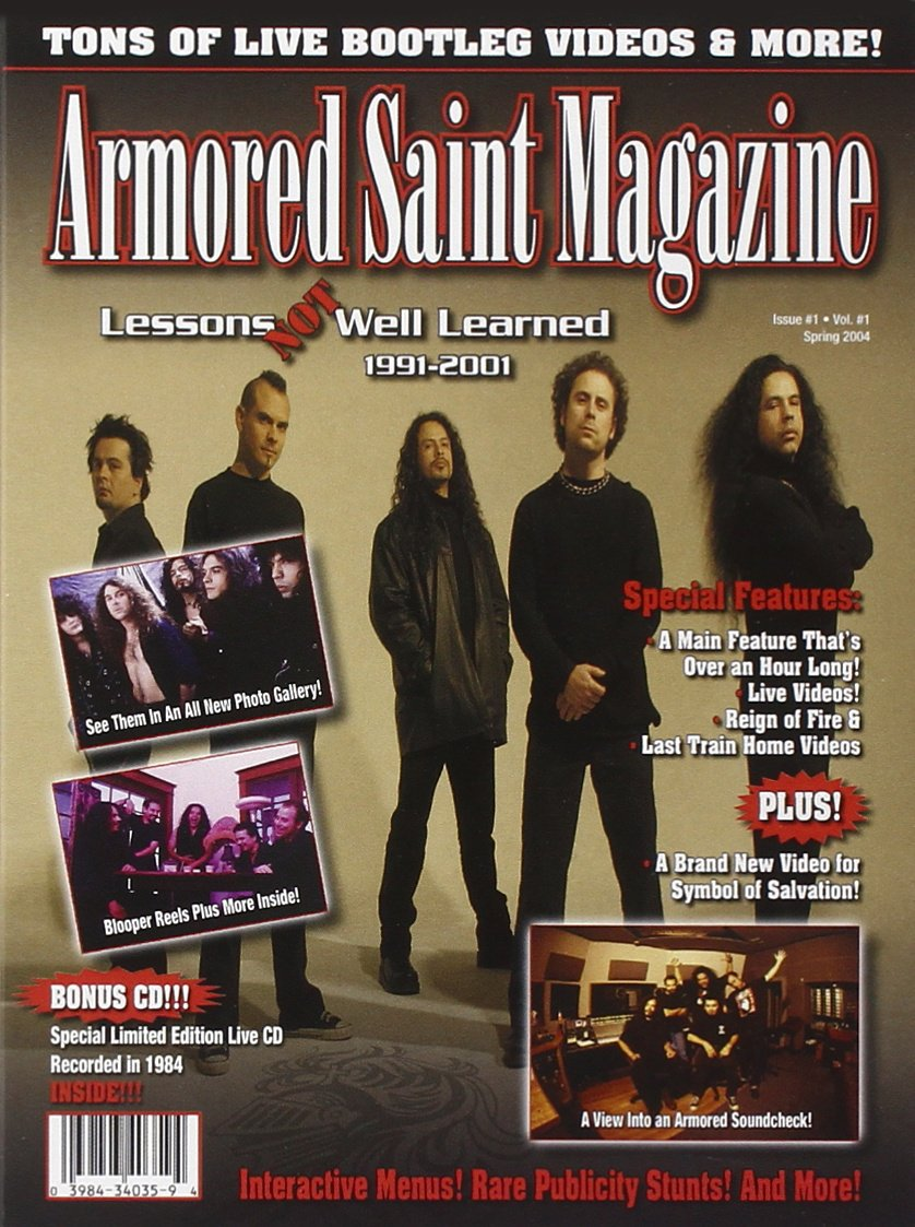 DVD : Armored Saint - Lessons Not Well Learned (Limited Edition, Bonus CD)