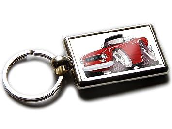 Amazoncom Koolart Cartoon Car Triumph Tr6 Chrome Keyring Picture
