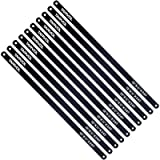 Hacksaw Replacement Blades (10 Pack) High Speed 24 TPI - 12' Length Hack Saw Blade - Carbon Strength Steel - Industrial…