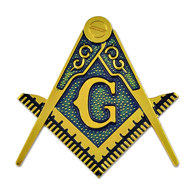 Amazon Masonic Square Compass Gold Finish Car Auto Emblem 2