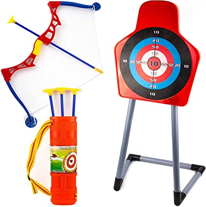 Amazon Com Toysery Kids Archery Bow And Arrow Toy Set Target With Stand Indoor Outdoor Garden Fun Game Best Archery Bow Arrow Toy Set For Kids Age 3 And Up My boys can easily share one stand when i teach them. toysery kids archery bow and arrow toy set target with stand indoor outdoor garden fun game best archery bow arrow toy set for kids age 3 and