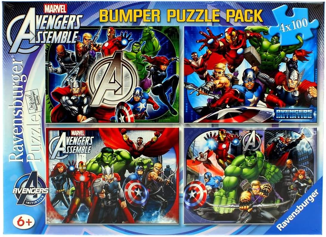 The Avengers 4X 100 Piece Jigsaw Puzzle Bumper Pack by The Avengers: The Avengers: Amazon.es: Juguetes y juegos