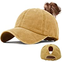 Tuopuda Gorra de Béisbol Classic Unisex Ajustable Washed Teñido Gorras de Béisbol de Algodón Sombrero de Deportes al…