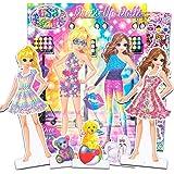 Lisa Frank Paper Dolls Activity Set -- 2 Paper Dolls, 4 Paper Pets, 275 Lisa Frank Stickers, Coloring Pages, 200 Fashion Comb