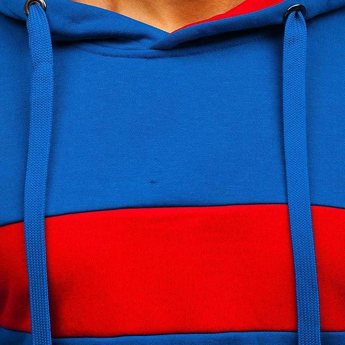 JiaMeng Chaqueta de Las Sudaderas con Capucha Empalme Impreso Pullover Sudadera con Capucha de Manga Larga Tops Blusa: Amazon.es: Ropa y accesorios