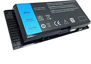 FLIW FV993 Replacement Battery Compatible with Dell Precision M4600 M4700 M4800 M6600 M6700 M6800 FJJ4W 9-Cell [11.1V 97WH]