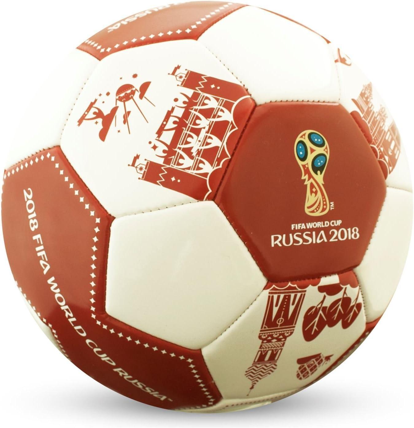 FIFA World Cup 2018 - Balón de fútbol, Color Blanco y Rojo, Color ...