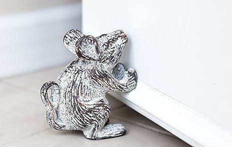 Amazon.com: Cast Iron Mouse Decorative Door Stop   Door Wedge ...