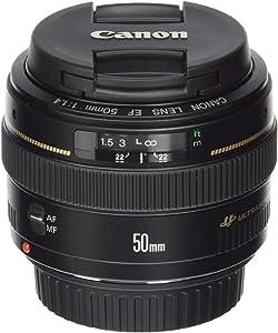Canon EF 50mm f/1.4 USM Standard & Medium Telephoto Lens for Canon SLR Cameras - Fixed (Renewed)
