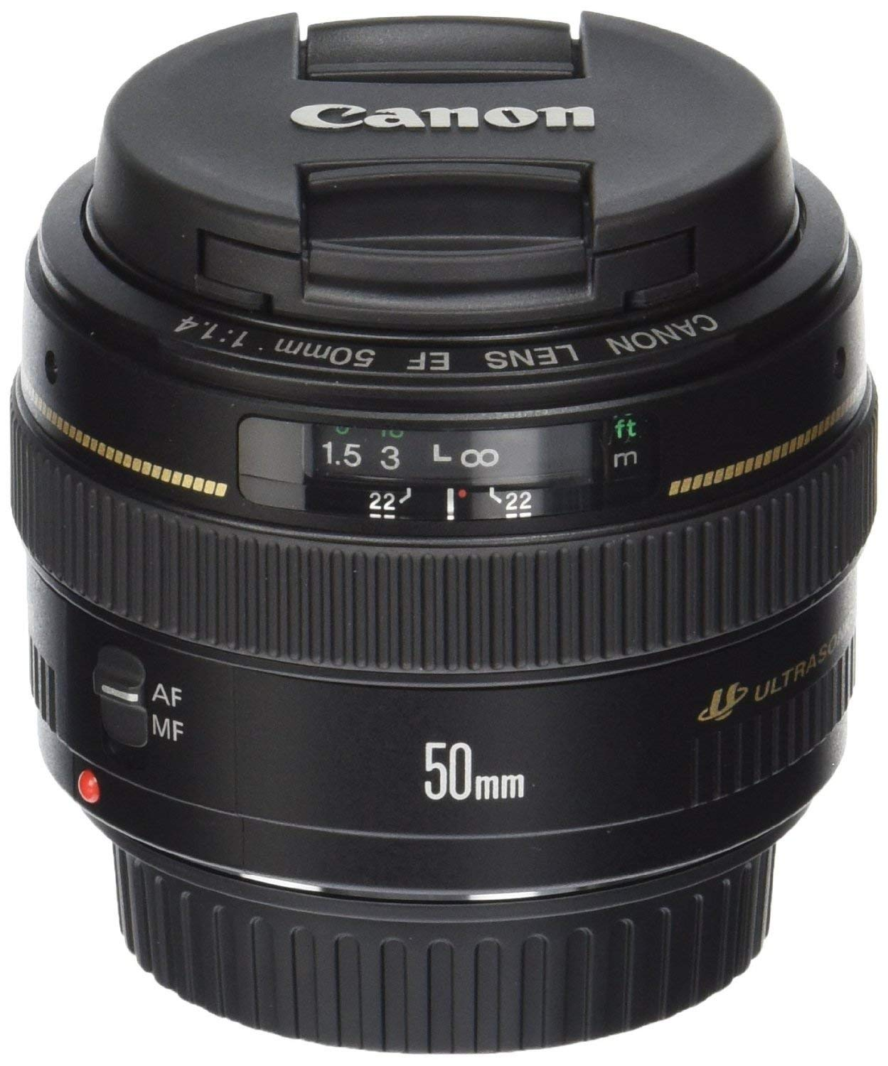 Canon EF 50mm f/1.4 USM Standard & Medium Telephoto Lens for Canon SLR Cameras - Fixed (Renewed) by Canon