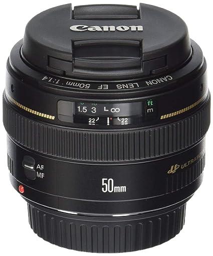 Canon EF 50 mm f/1.4 USM estándar y teleobjetivo mediano lente ...