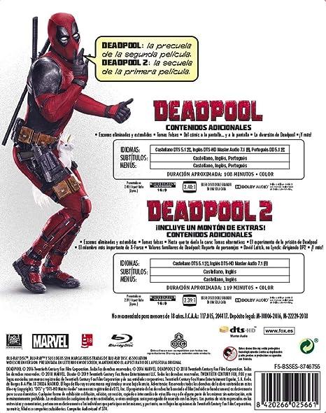 Pack Deadpool 1+2 Black Mtl Ed Blu-Ray [Blu-ray]: Amazon.es: Morena Baccarin, Ryan Reynolds, Tim Miller, David Leitch, Morena Baccarin, Ryan Reynolds: Cine y Series TV