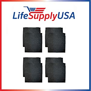 LifeSupplyUSA 2 Packs of 4 (8) Replacement Carbon Pre Filters Compatible with Whirlpool Whispure AP150 AP250 Sears Kenmore 83353 83374 83377 83234 Air Cleaner, Part # 8171433 / 8171433k