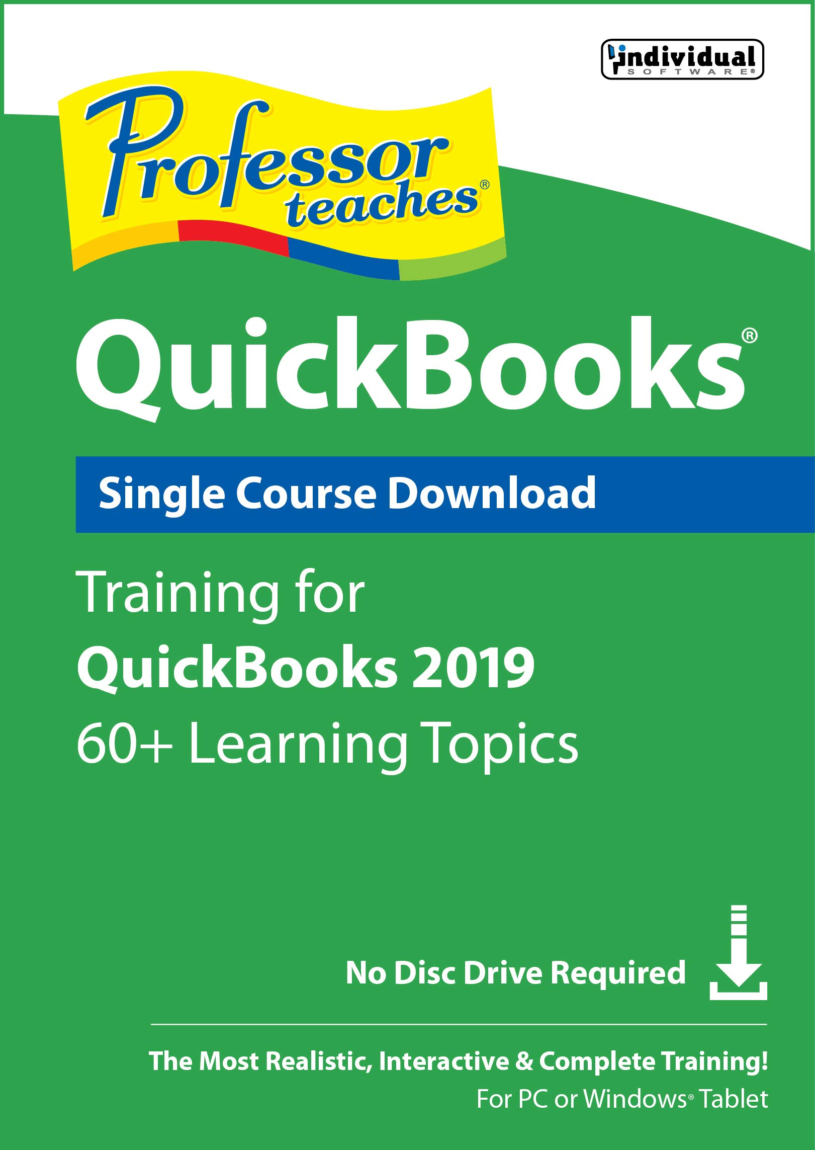 Professor Teaches Quickbooks 2019 [PC Download] by Individual Software