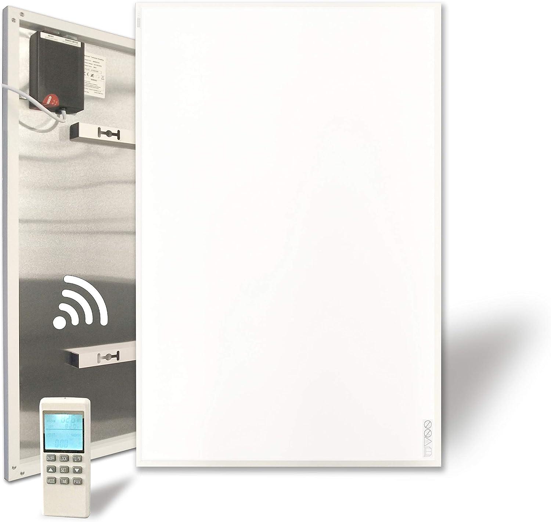 Infrarotheizung 900W mit Eingebautem Thermostat Ein-//Ausschalter Fernbedienung Wandheizung Heizplatte Heizpaneel Infrarot Wandmontage Energiesparend /Überhitzungsschutz Carbon Crystal mit CE GS RoHS
