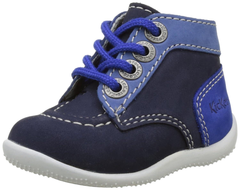 Kickers Bonbon, Chaussures Premiers Pas Bébé Mixte- Bleu (Bleu Bleu Clair Rose) - 18 EU EU