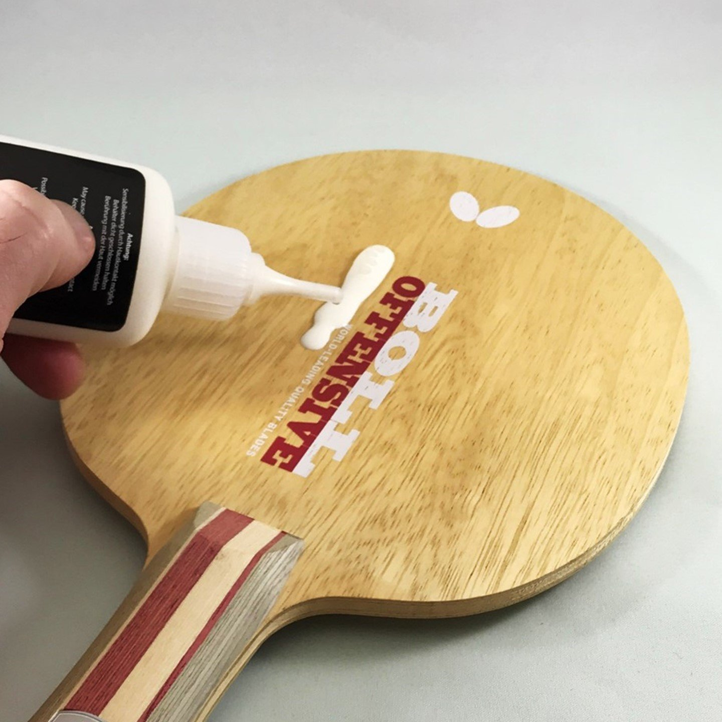 Butterfly Free Chack Table Tennis Racket Glue Comes with Sponges and Application Clip Perfect for Assembling Ping Pong Paddle