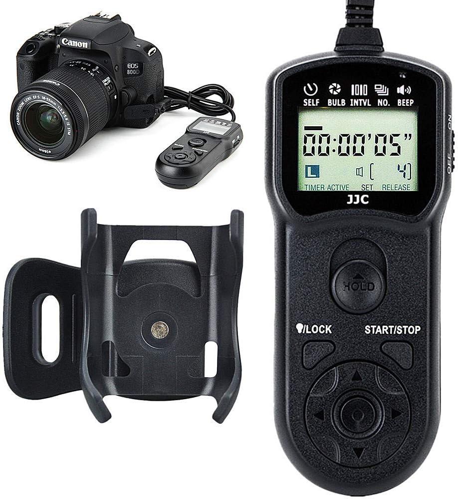 Wireless Shutter Remote Control JJC Remote Shutter Release for Canon T7 T6 T5 T3 T2 XS T7i T6s T6i T5i T4i T3i T2i XSi SL2 SL1 80D 77D 70D 60Da 60D etc Replaces Canon RS-60E3 /& Pentax CS-205