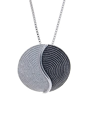 Sterling Silver Two-Tone Tao Corbula Necklace tJnS2w