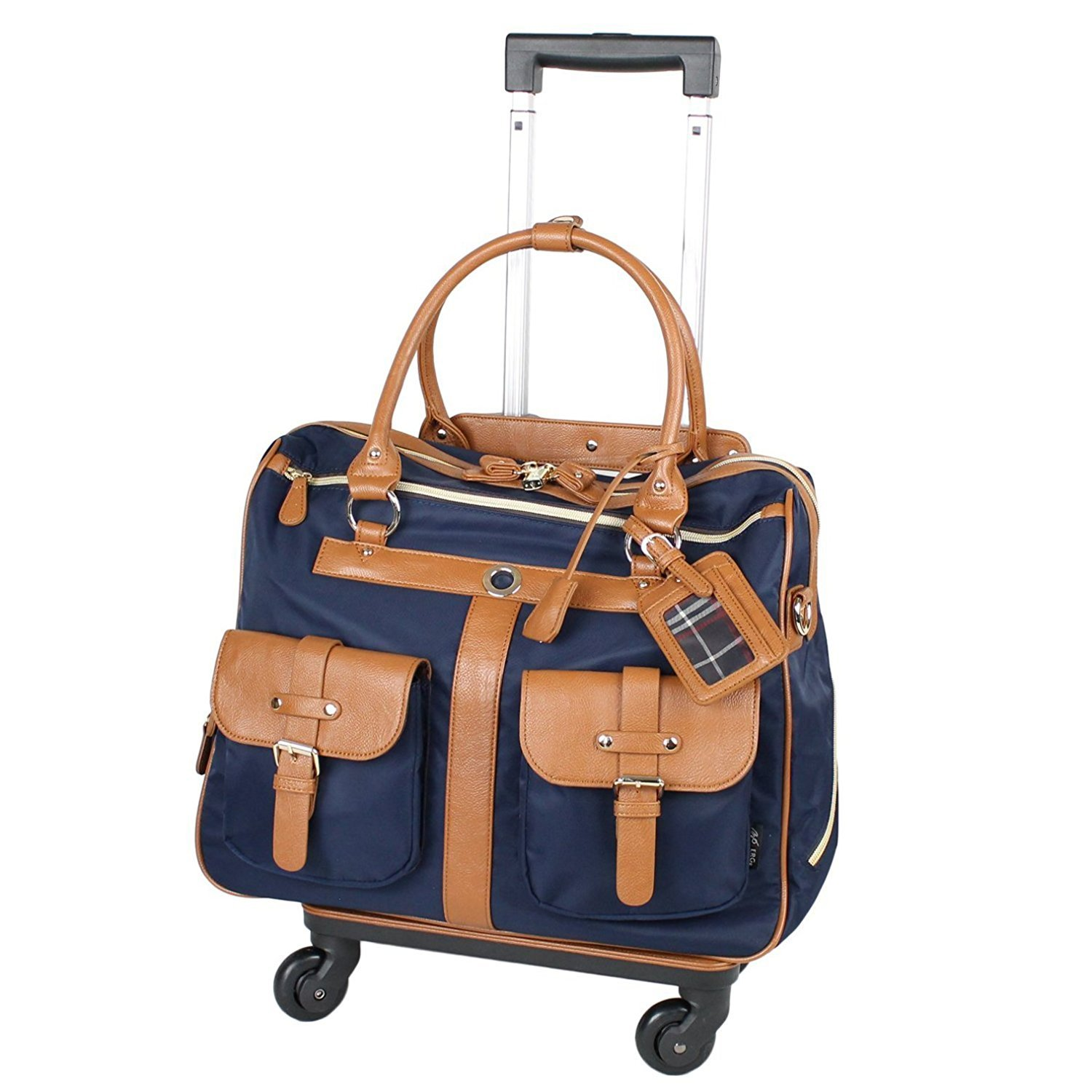 MOIERG Travel TotesTrolley Luggage suitcase with Multi-Pckets (navy blue)[71-11208-50] by MOIERG