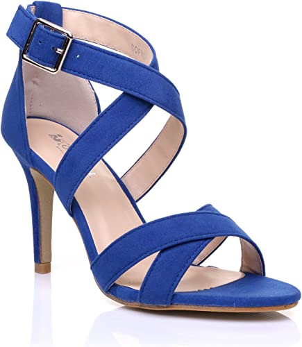 Sophie Royal Blue Faux Suede Strappy