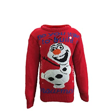 childrens kids boys girls frozen olaf christmas jumper 3 12 yearsolaf do you - What Do 12 Year Olds Want For Christmas