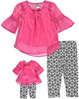 "Dollie & Me Little Girls' ""Mad for Mod"" 2-Piece Outfit with Doll Outfit"
