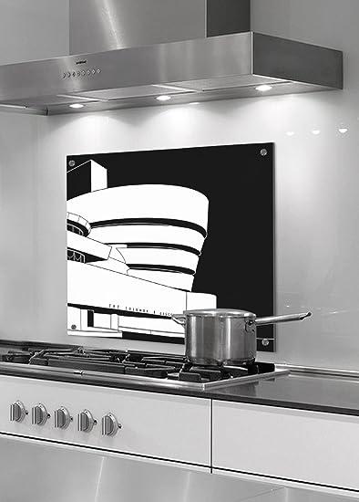Paraschizzi - Pannello in vetro di protezione per cucina ...