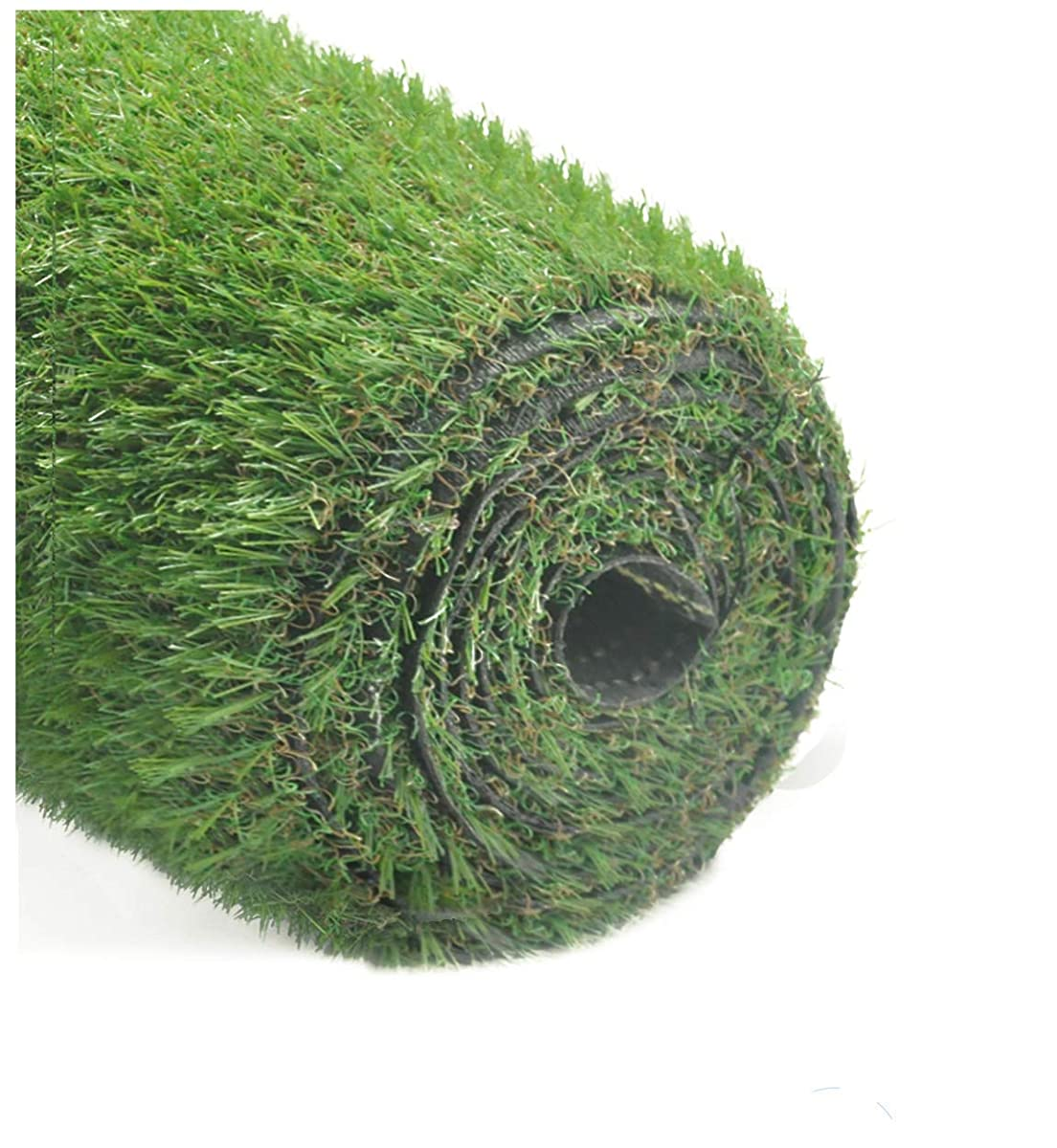 """GOLDEN MOON 6.5ftx10ft Series PE Indoor/Outdoor Green Decorative Synthetic Artificial Grass Turf Area Rug 1.4 Inch Pile Height, 6.5x10, 1.4"""""""