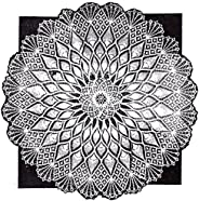 Crocheted Cloth Design No. 684 Pineapple & Spider Web Tablecloth Crochet Pat