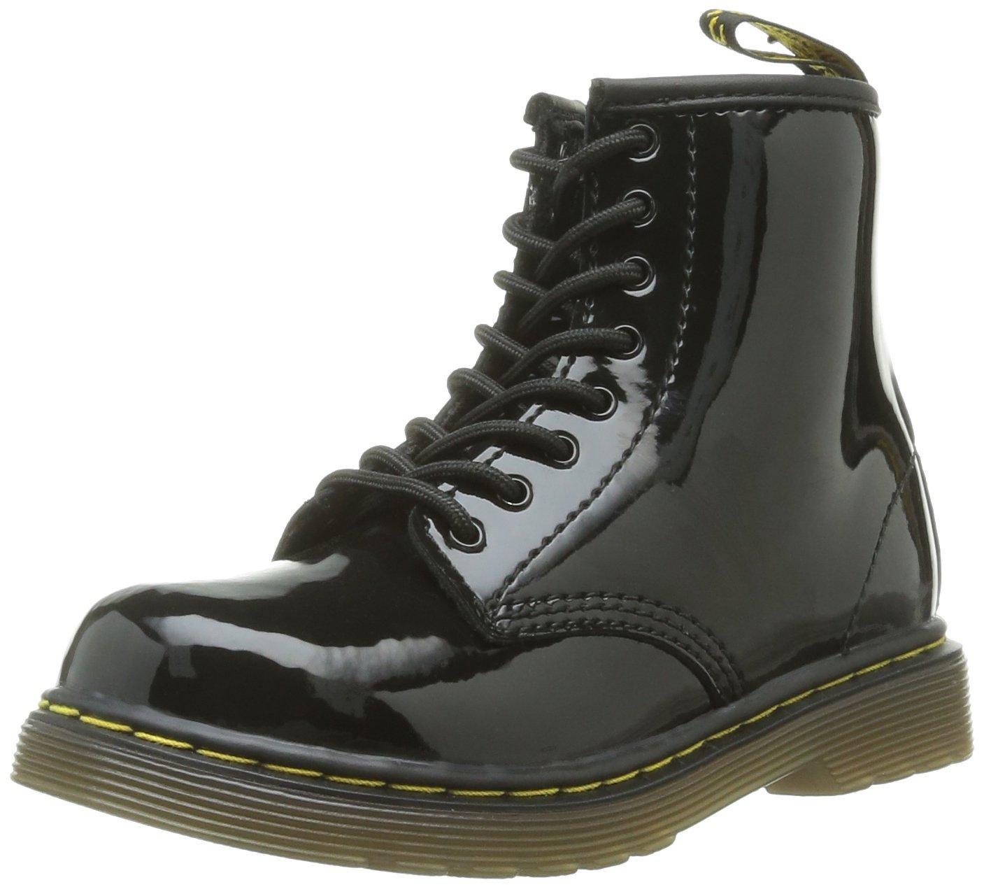 Dr. (Black Martens Brooklee, Boots mixte bébé Noir (Black Dr. Noir Patent Lamper) 307ffc5 - shopssong.space