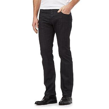 c3082526e J By Jasper Conran Men Designer Dark Blue Straight Leg Jeans: J by Jasper  Conran: Amazon.co.uk: Clothing