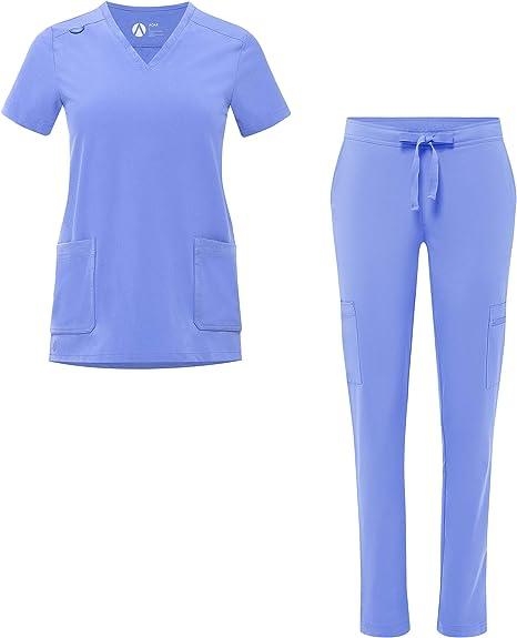 Skinny Cargo Scrub Pants Adar Addition Scrubs For Women
