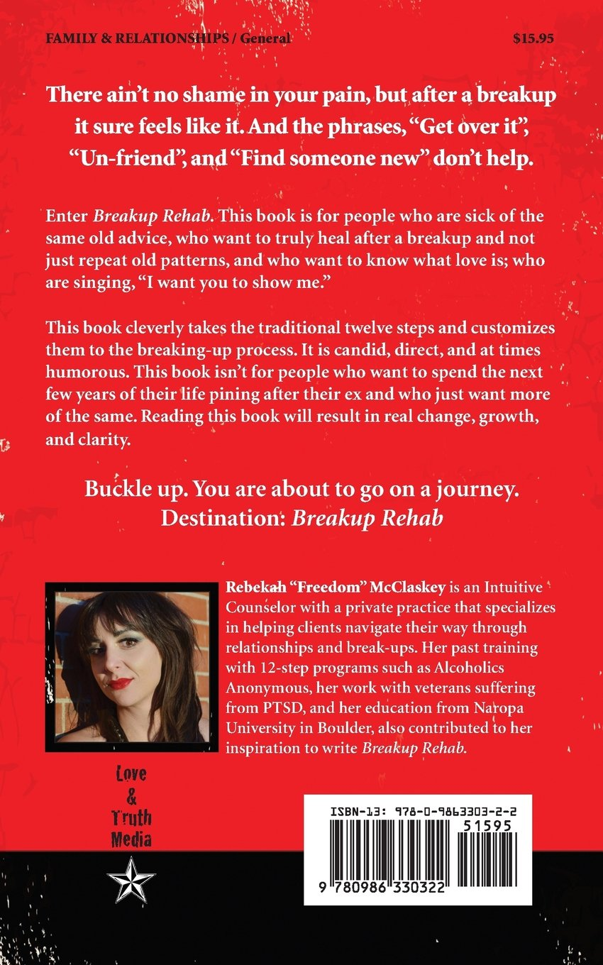 Breakup Rehab: Start Over Stronger: Rebekah Mcclaskey Ma, Nick Zelinger:  9780986330322: Amazon: Books